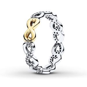 Pandora silver and gold infinity ring